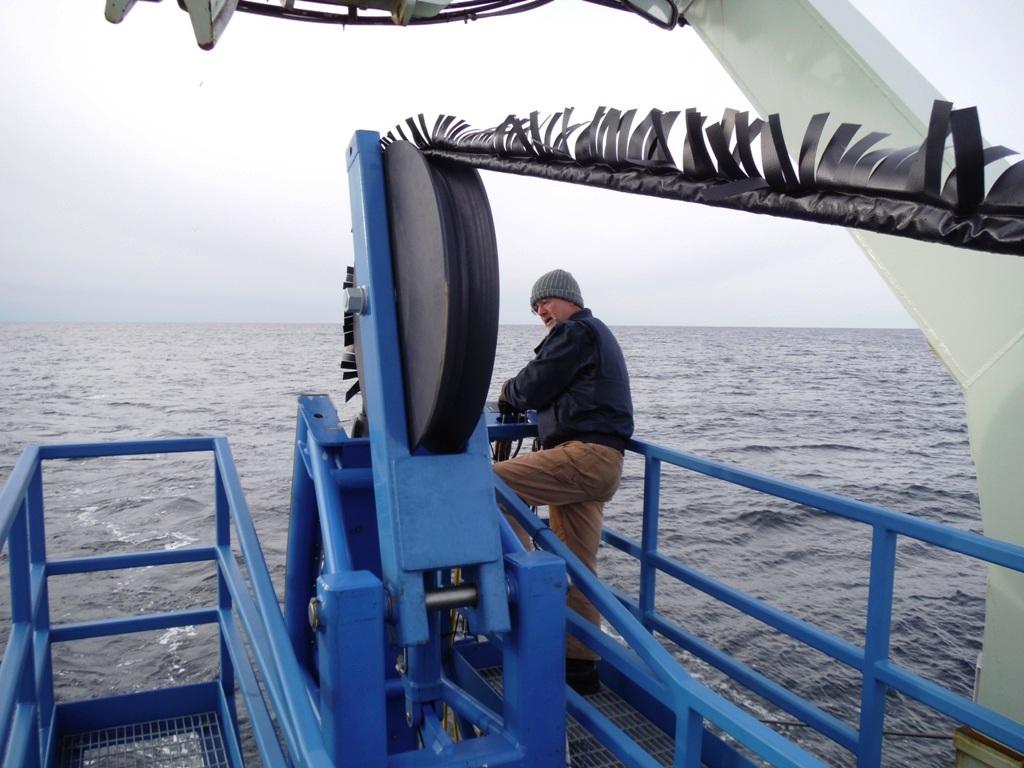 Carl Stevens deploying the FMP system.