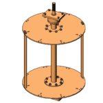Vertical Cross Flow Turbine CAD model