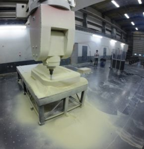 Wave energy surface float machining