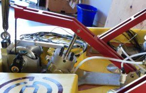Final spring-dashpot system arrangement. Photo courtesy of Oscilla Power.