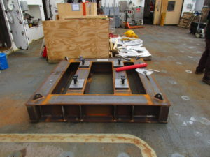 Custom 50kip winch foundation designed for Sikuliaq A-frame Load Test