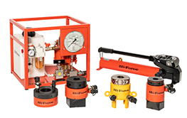 Bolt Tensioners. Hydraulic tensioners and tensioner nuts, manual and air driven pumps and accessories. Topside and sub-sea.
