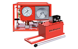 Hydrotest Pumps. Manually operated and air driven hydrotest pumps and accessories.