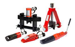 Nut Splitters and Flange Spreaders. Hydraulic and self-contained nut splitters, hydraulic and mechanical flange spreaders and kits.