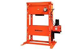 Presses. Heavy duty workshop presses with wide choice of hydraulic systems and load capacities.