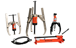 Puller Kits. Self-contained and heavy duty hydraulic pullers, pin and bush replacement tool kits.